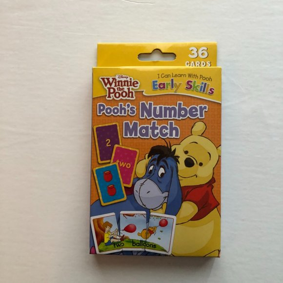 (3 for $50) Disney Winnie Pooh Early Skills Cognitive Learning Cards